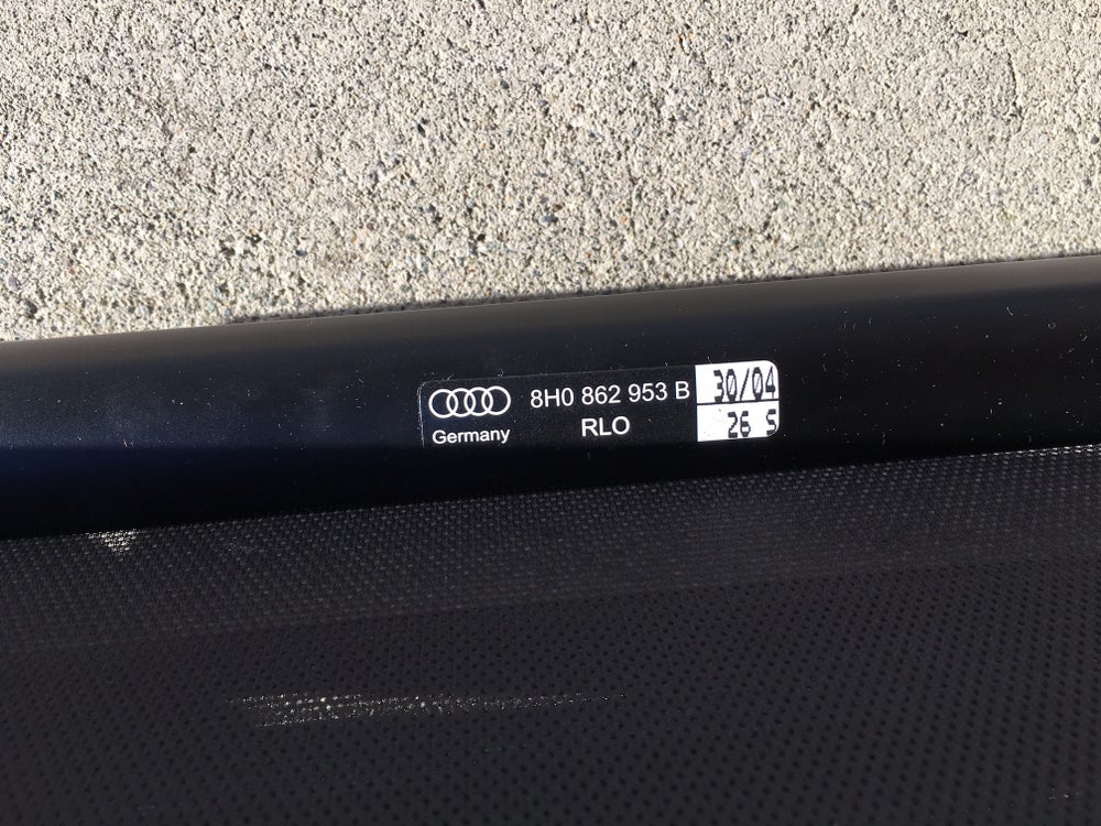 Image of Audi A4 Convertible A4 Cabrio 2003-2009 Wind Deflector 8H0862953B  OEM