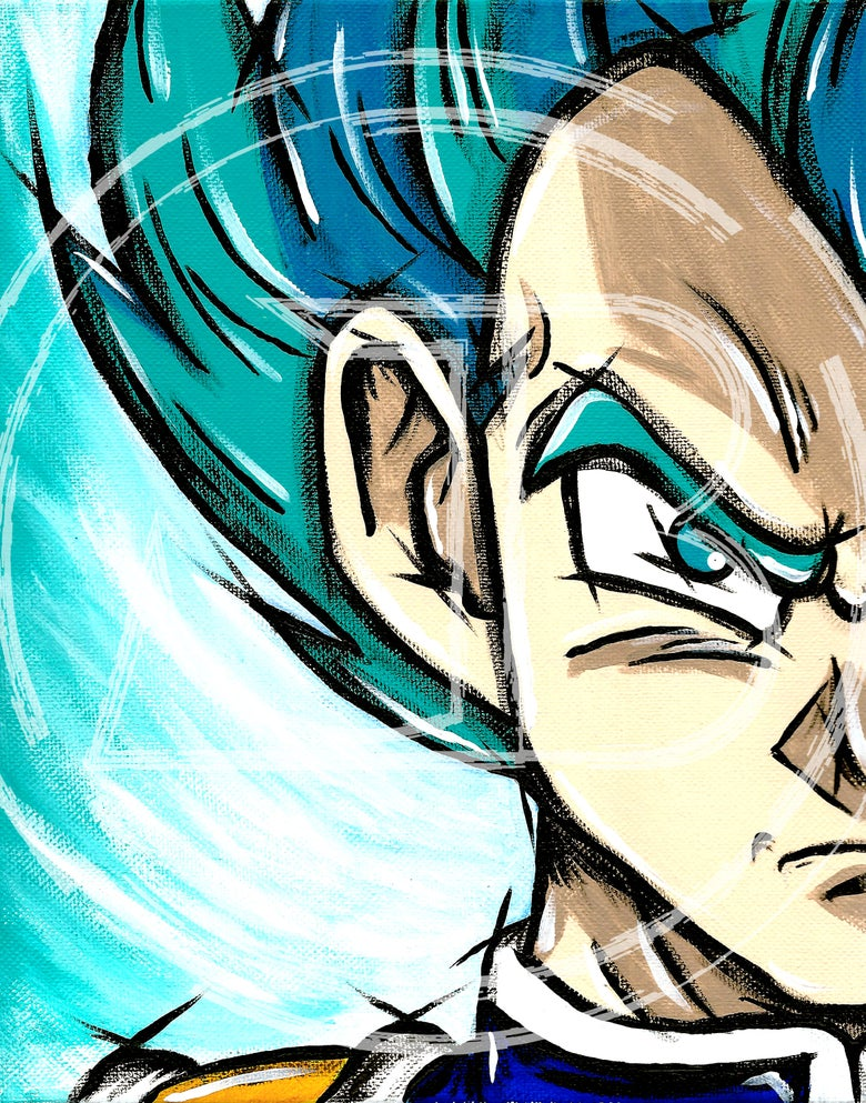 "Image of ""The Prince of All Saiyans"" Print"