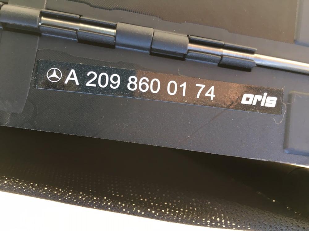 Image of MERCEDES BENZ W209 CLK Class Wind Deflector Windscreen A2098600174
