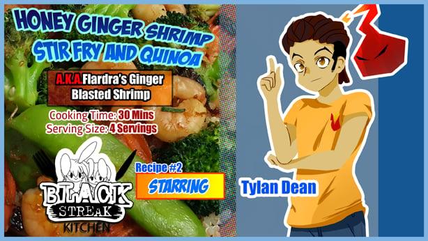 Image of Honey Ginger Shrimp Stir Fry and Quinoa (Digital Comic)