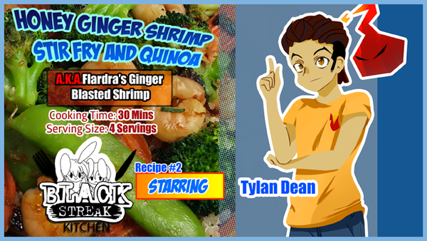 Image of Honey Ginger Shrimp Stir Fry and Quinoa (Digital Comic)