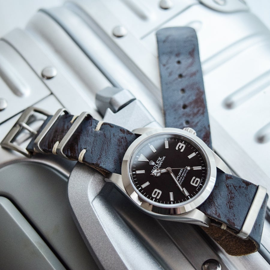 Image of Rugged 'Rust' Leather NATO