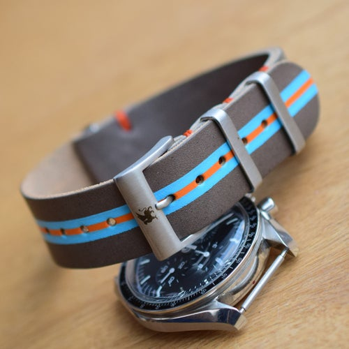 Image of Rugged 'Gulf' Leather NATO