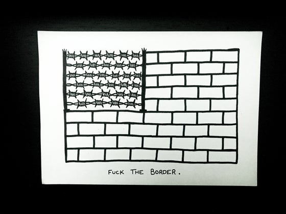 Image of F### THE BORDER ART CARD