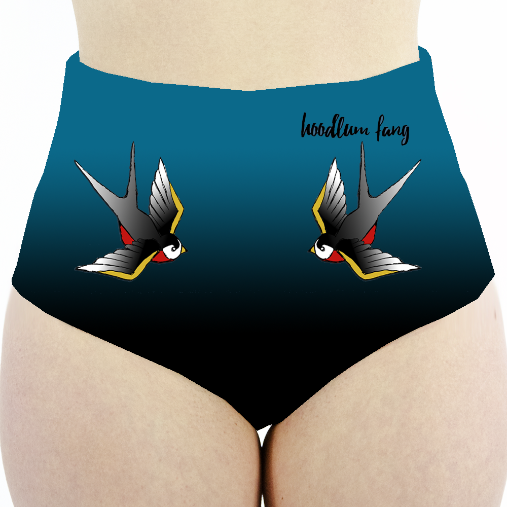 Image of Tattooed Pole Dancer High Waisted Ombre Cheeky Shorts