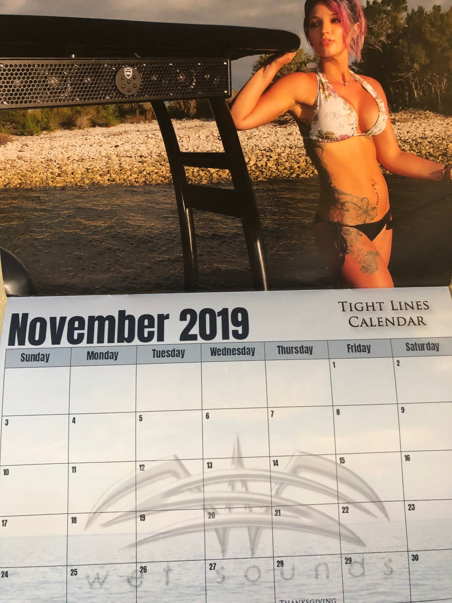 Image of Signed && Personalized 2019 Tight Lines Calendar