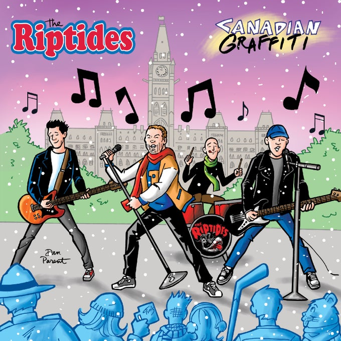 "Image of THE RIPTIDES - CANADIAN GRAFFITI (12"")"