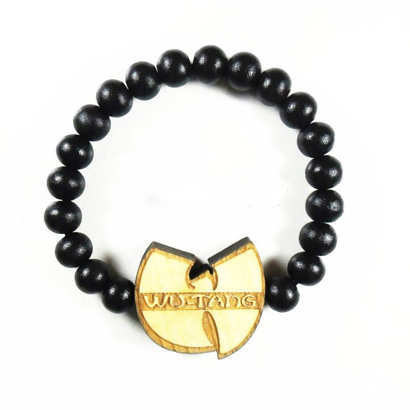 Image of Wu-Tang Clan Wood Bracelet (4 Color Options)