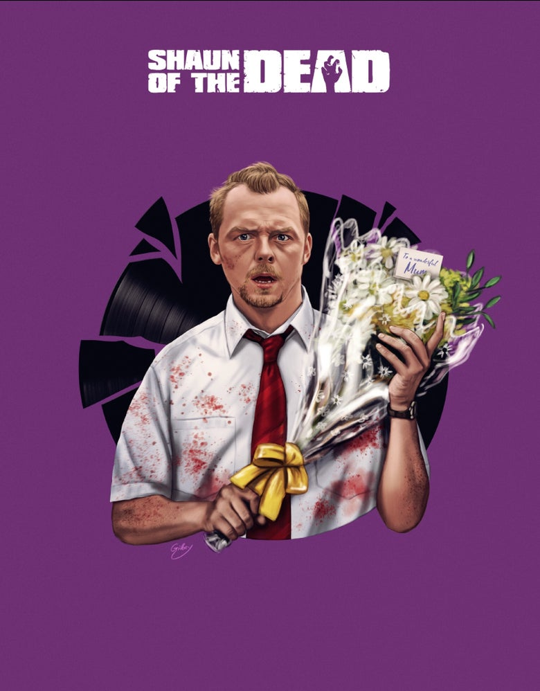 Image of Simon Pegg/Shaun of the Dead Variant (officially licensed print)