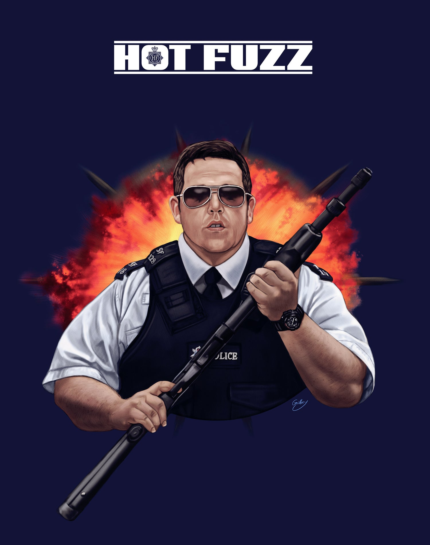Image of Nick Frost/Hot Fuzz (officially licensed print)