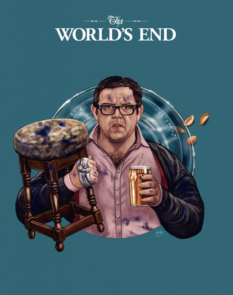 Image of Nick Frost/The World's End (officially licensed print)