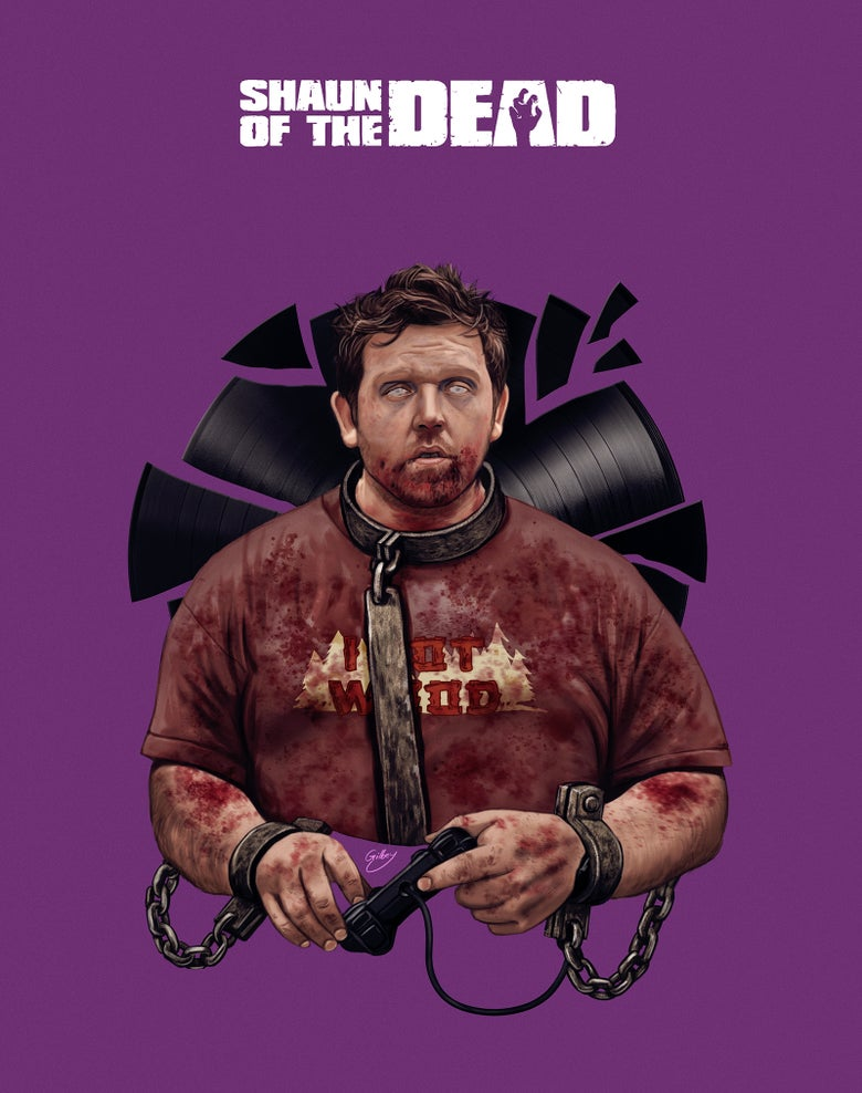 Image of Nick Frost/Shaun of the Dead Variant (officially licensed print)