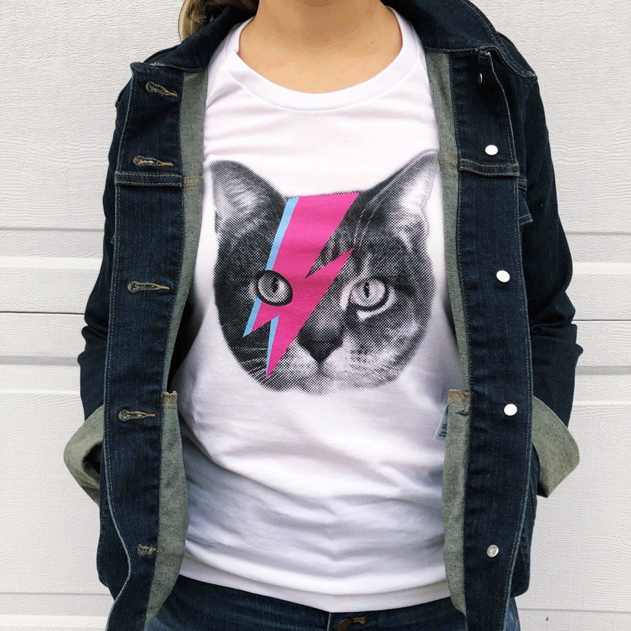 Image of Bowie Cat T-shirt