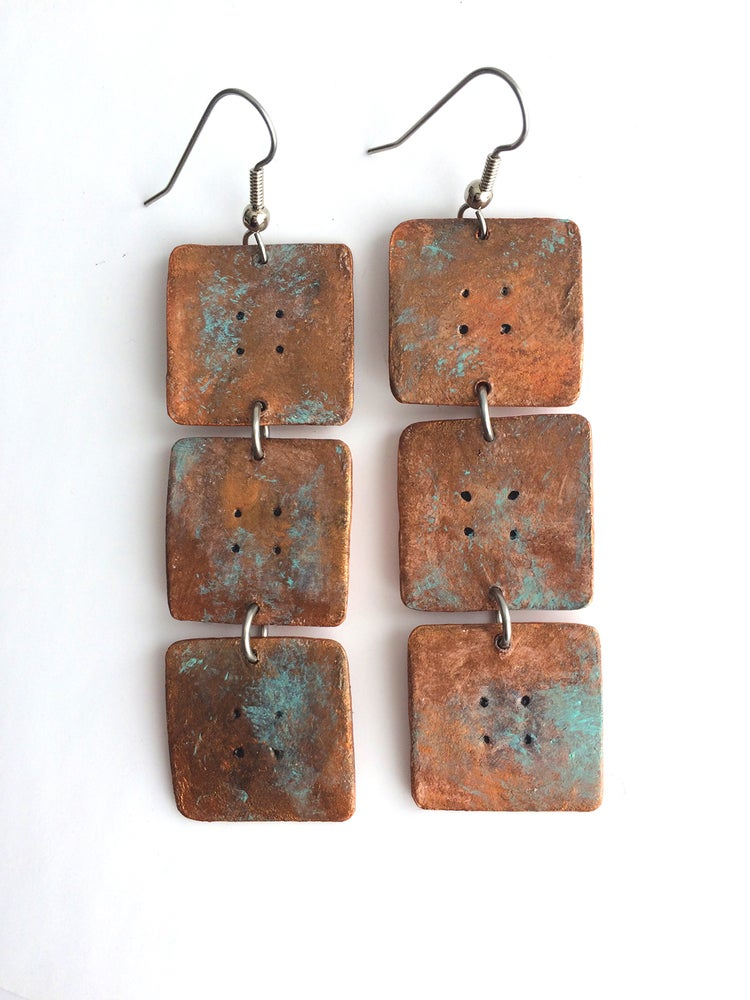 Image of Sedona Earrings / Bronze Patina Finish / Paper