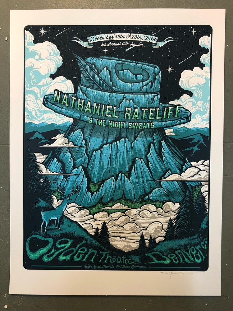 Image of Nathaniel Rateliff & The Night Sweats - December 19th & 20th 2018 - Ogden Theatre - Artist Edition