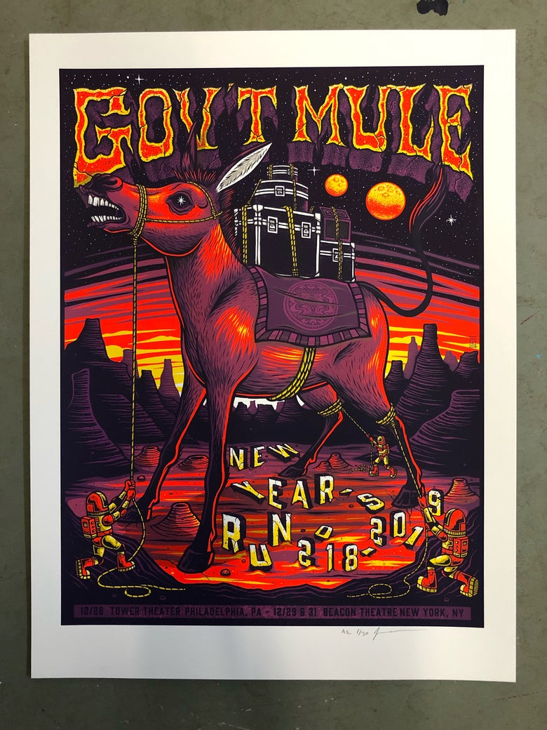 Image of Gov't Mule - NYE Run 2018 - Philly & NY - Artist Edition