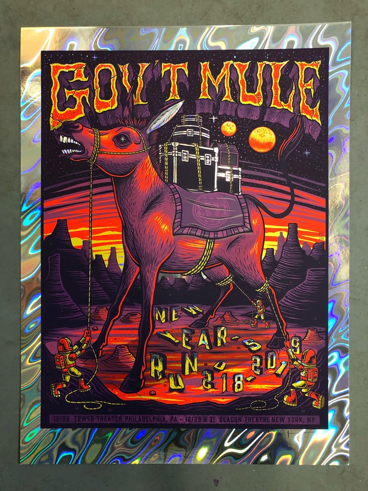 Image of Gov't Mule - NYE Run 2018 - Philly & NY - Lava Foil Edition
