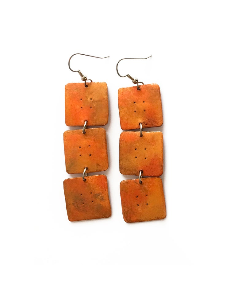 Image of Sedona Earrings / Copper Finish / Paper