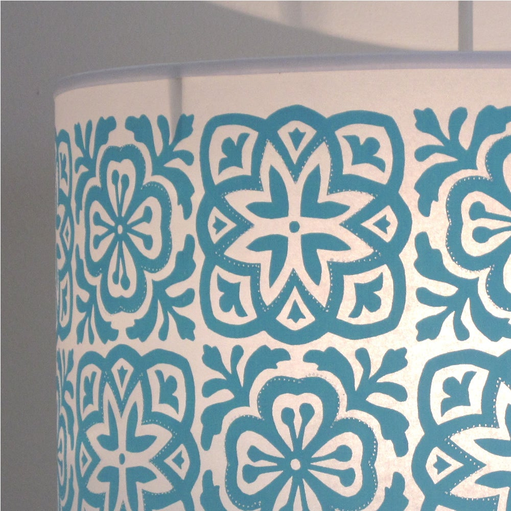 Helen Rawlinson Design — Wide Tub Drum Moroccan Tile Turquoise