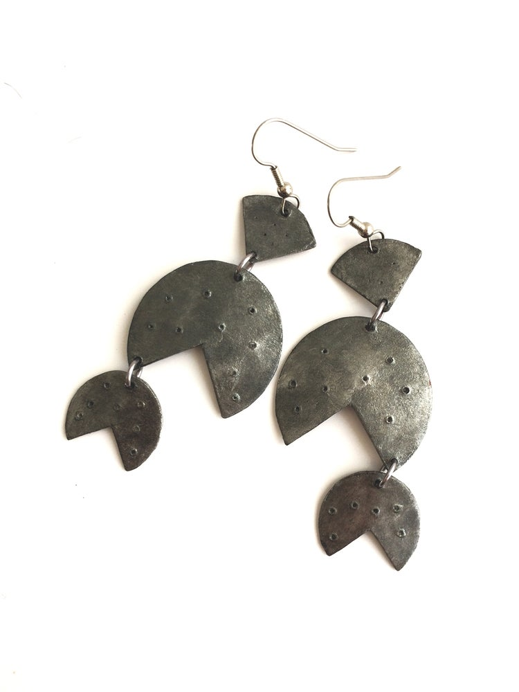 Image of Barbados Earrings / Silver Finish / Paper