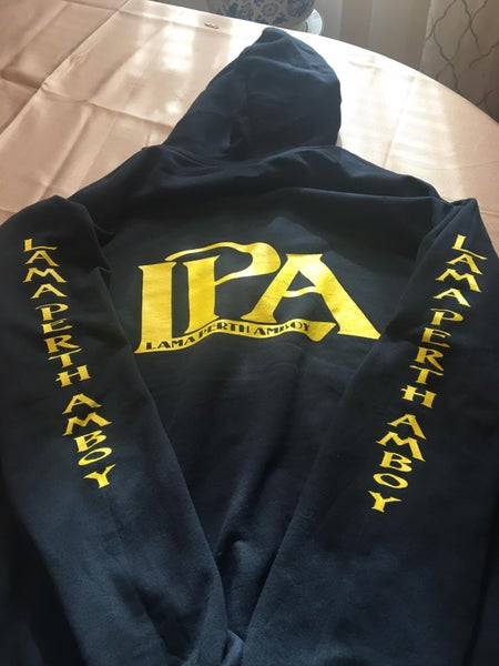 Image of LPA Logo Zip Up Black Hoodie