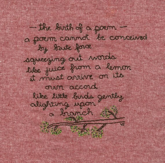 Image of The birth of a poem.