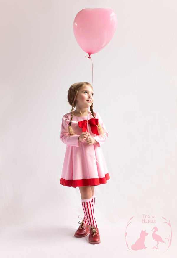 Image of Willow in candy pink and red