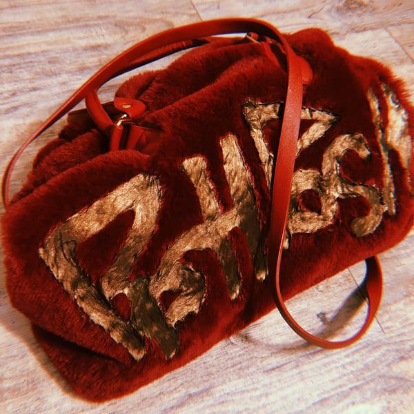 Image of Maroon Fur Purse