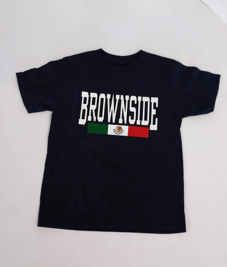 Image of KIDS BROWNSIDE LOGO TEE