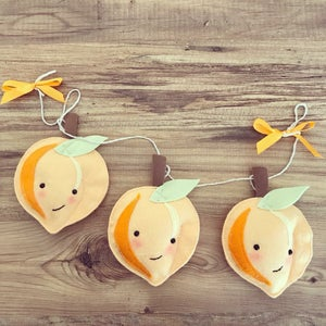 Image of Peach felt decoration