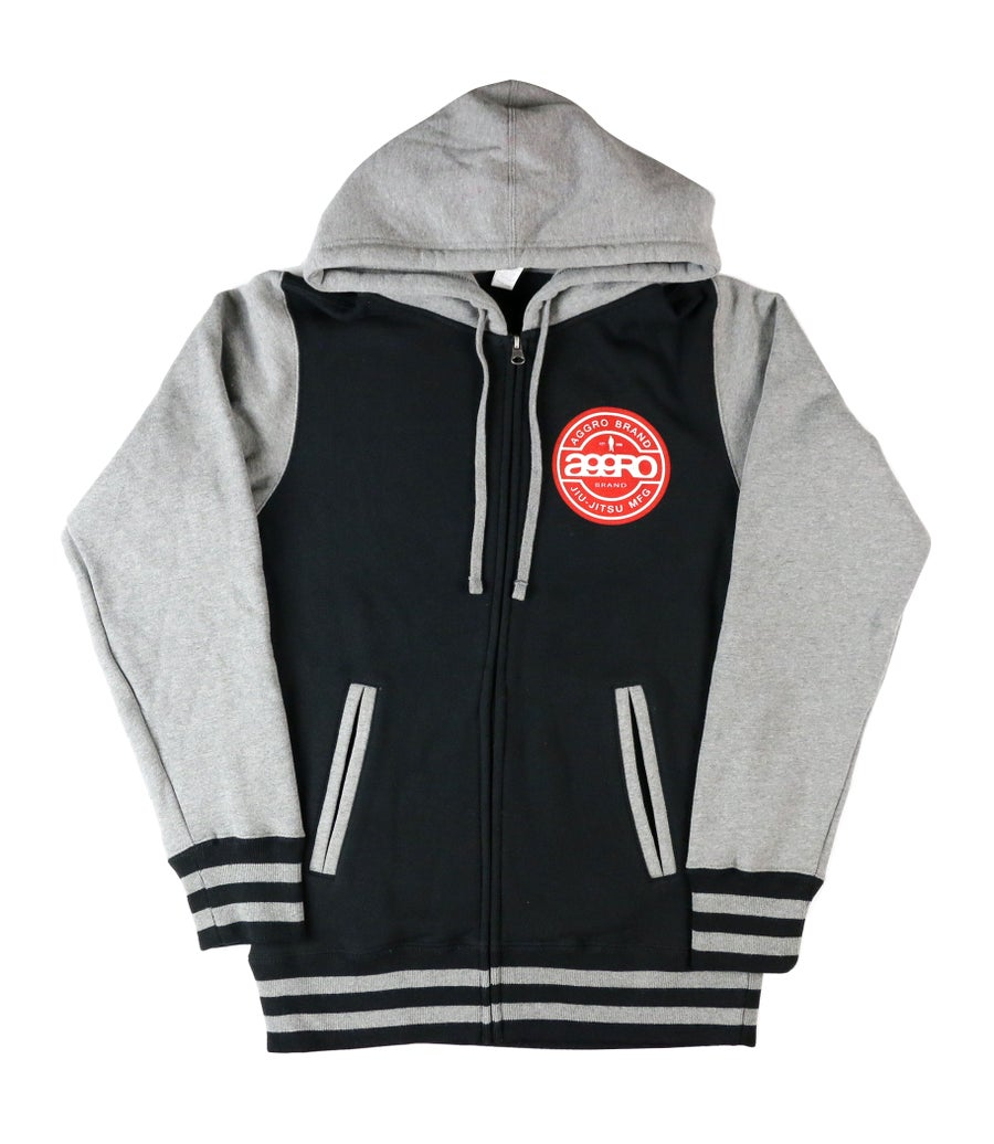 "Image of AGGRO Brand ""BELAIR"" Zip-Up Hooded Jacket (Version II)"