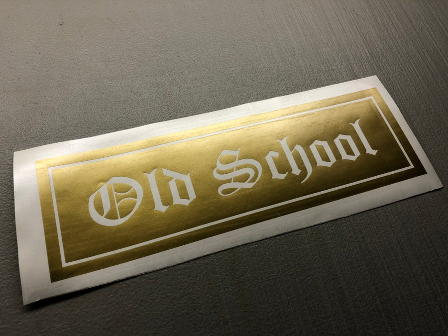 "Image of 10"" old school decal"
