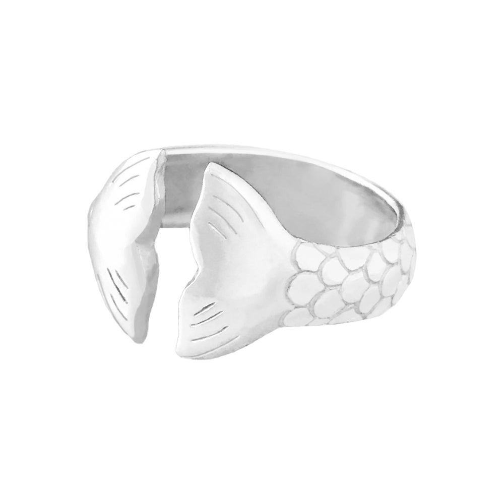 Image of Mermaid Tail Ring - Sterling Silver