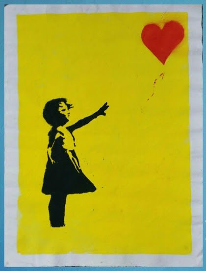 "Image of ""Banksy.""  Original silkscreen on Canvas."