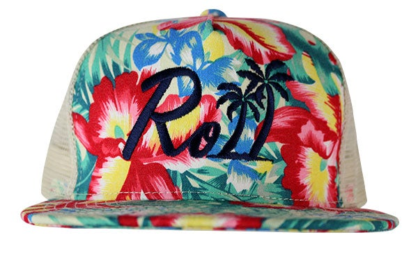 "Image of AGGRO Brand ""Roll"" Island Snapback Hat"