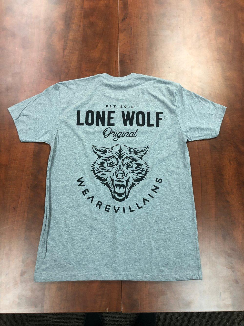 Lone Wolf tee black/grey/military green