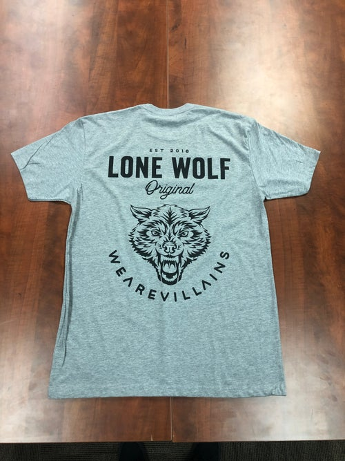 Image of Lone Wolf tee black/grey/military green