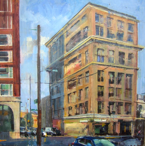 "Image of ""Upper and Short Street"" original oil painting"
