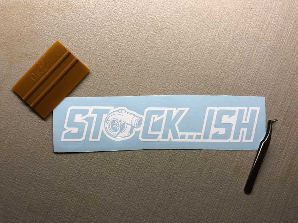 "Image of 10"" STOCK...ISH decal"