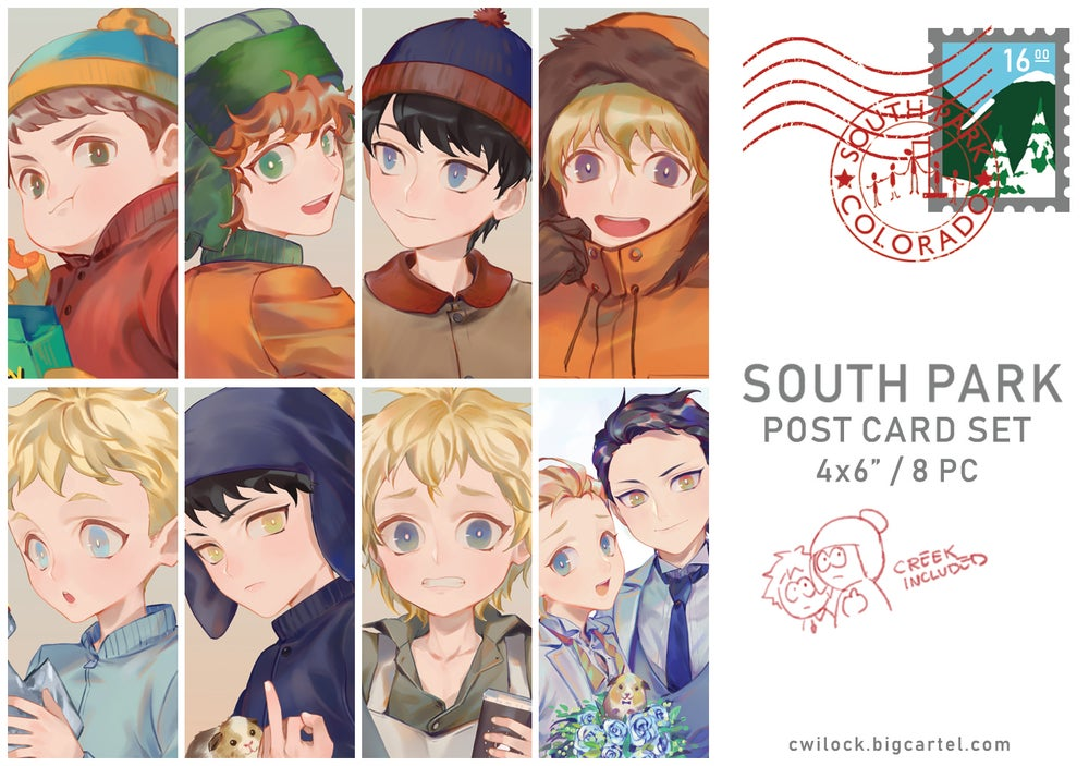 Image of South Park Postcard Set