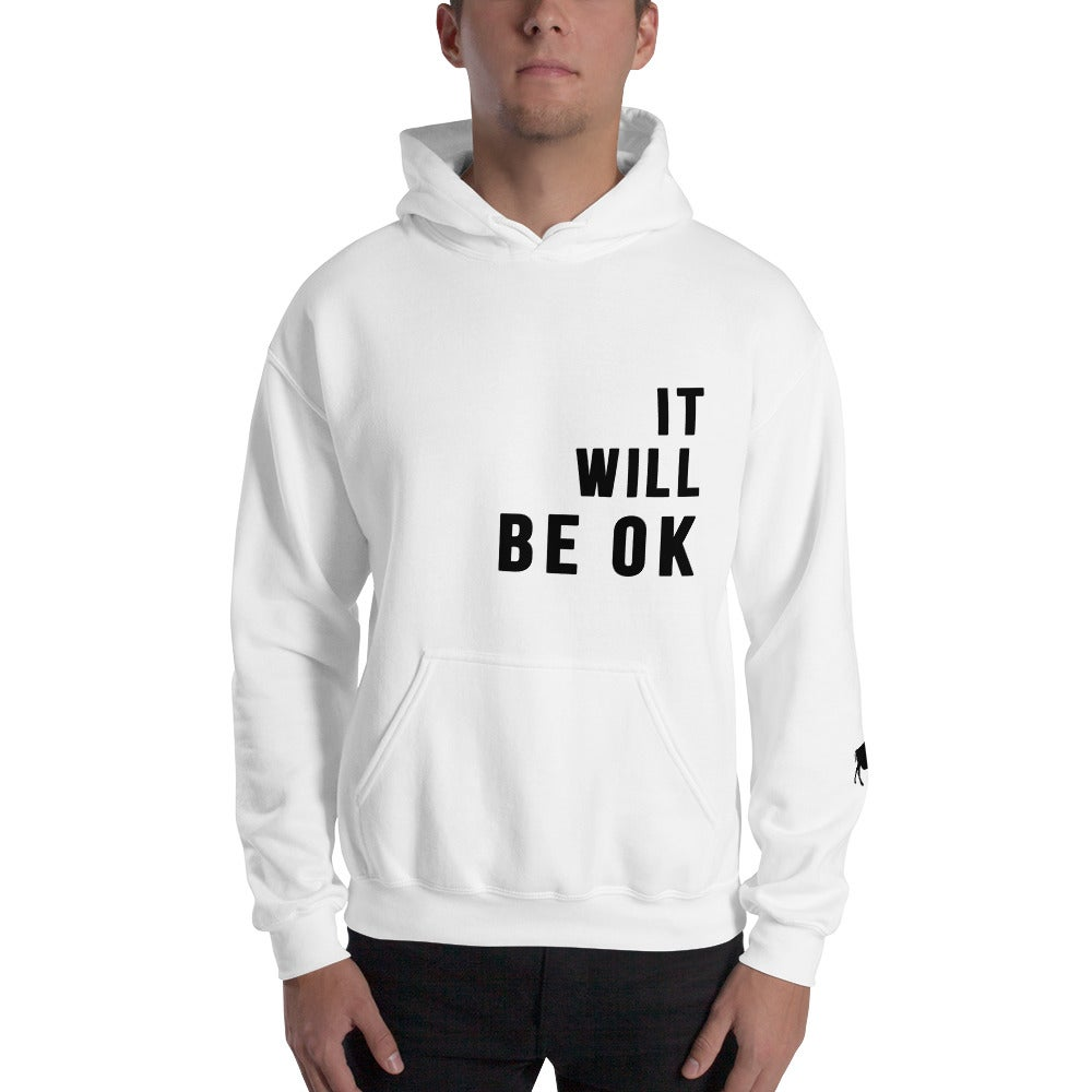 Image of It Will Be OK White Hoodie