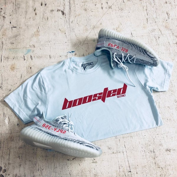 "Image of  BOOSTED ""CALABASAS"" BLUE TINT T-SHIRT"