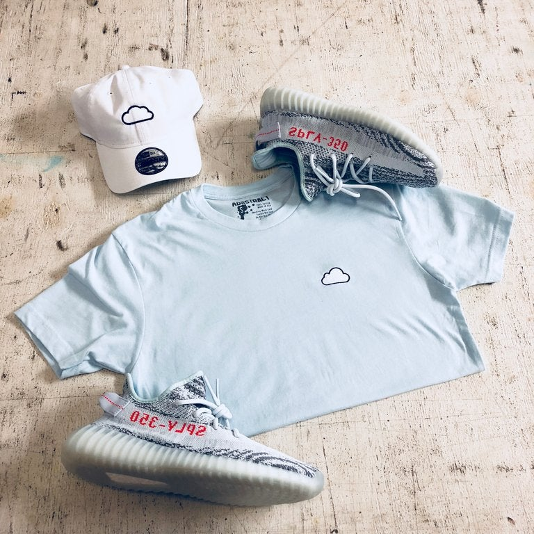 Image of CLOUD (BLUE TINT) EMBROIDERY T-SHIRT