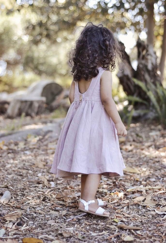 Image of Dusty pink linen Savannah dress