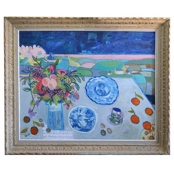 Image of Large still life, 'Clementines and Walnuts' Poppy Ellis