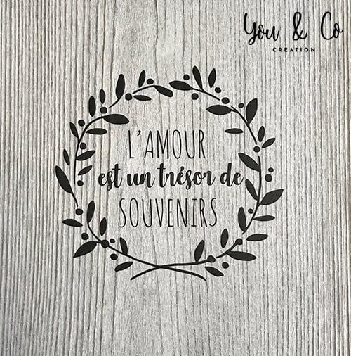 """Image of Sticker """"L'amour est un trésor de souvenirs"""""""