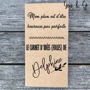 Image of Carnet d'idées {folles} personnalisable
