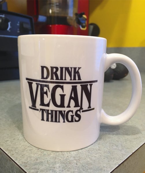 Image of Drink Vegan Things 11 oz mug
