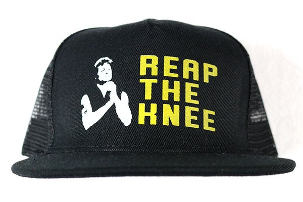 "Image of AGGRO Brand ""Reap The Knee"" Mesh Trucker"