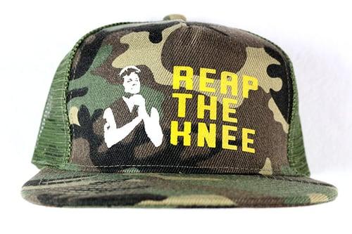 "Image of AGGRO Brand ""Reap The Knee"" Mesh Trucker"